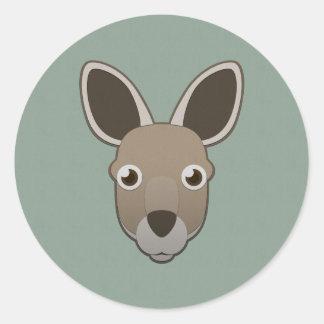 Paper Kangaroo Classic Round Sticker