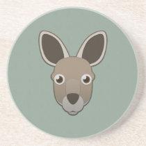Paper Kangaroo Sandstone Coaster