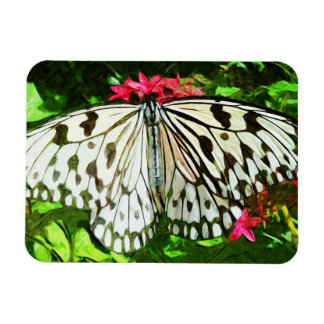 Paper Kite Butterfly Abstract Impressionism Magnet