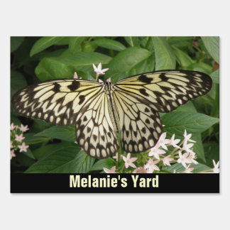 Paper Kite Butterfly Custom Yard Sign