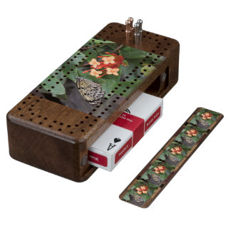 Paper Kite Butterfly Wood Cribbage Board