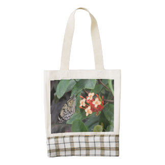 Paper Kite Butterfly Zazzle HEART Tote Bag
