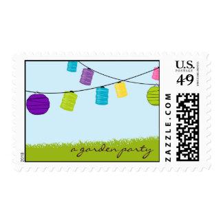 Paper Lantern Garden Party Postage