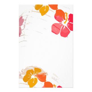 Paper Lantern Hibiscus Flower Stationery