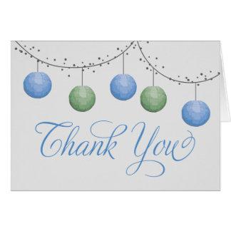 Paper Lantern Thank You Notecard Greeting Cards