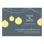Paper Lantern Wedding Save the Date Card
