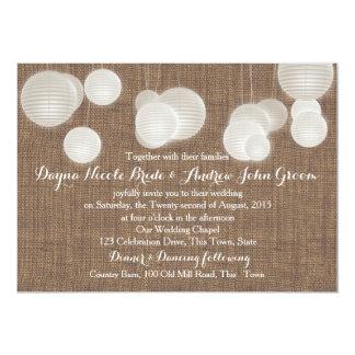 Paper Lanterns Rustic Wedding Card