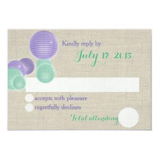 Paper Lanterns Rustic Wedding Response Card