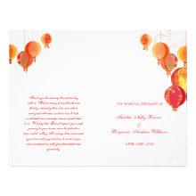 Paper Lanterns Wedding Ceremony Bi Fold Programs Flyer Design