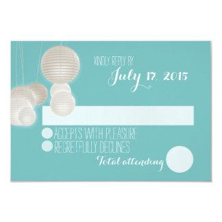 Paper Lanterns Wedding Response Card
