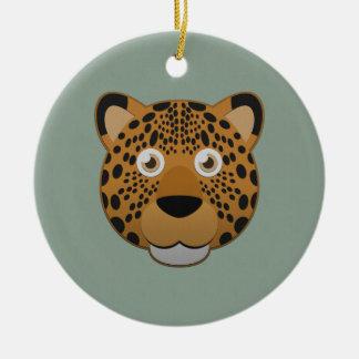 Paper Leopard Ceramic Ornament