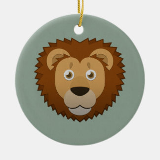 Paper Lion Ceramic Ornament