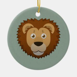Paper Lion Ceramic Ornament
