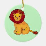 Paper Lion Christmas Ornaments