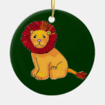 Paper Lion Christmas Tree Ornament