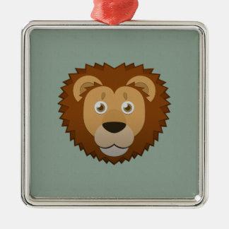 Paper Lion Metal Ornament
