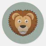 Paper Lion Round Sticker