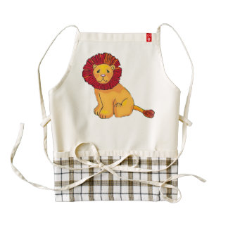 Paper Lion Zazzle HEART Apron