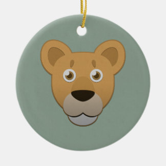 Paper Lioness Ceramic Ornament