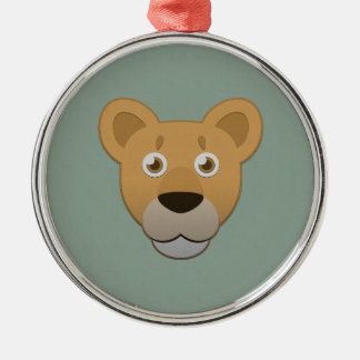 Paper Lioness Metal Ornament