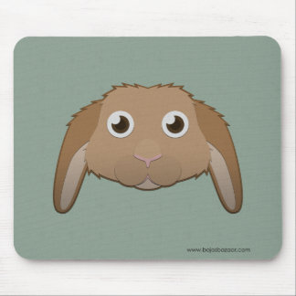 Paper Lop Bunny Mouse Pad