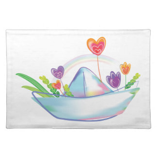 Paper Loveboat Placemat