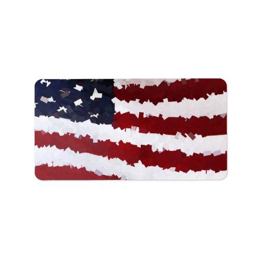Paper Mache American Flag Address Label