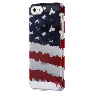 Paper Mache American Flag Uncommon Clearly™ Deflector iPhone 5 Case