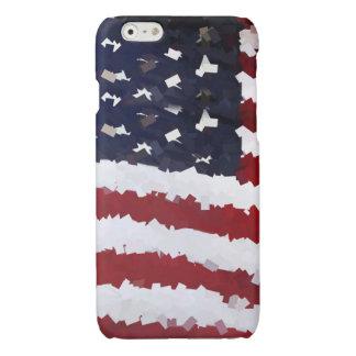Paper Mache American Flag Glossy iPhone 6 Case