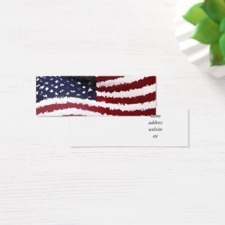 American flag business cards at zazzle paper mache american flag mini business card colourmoves