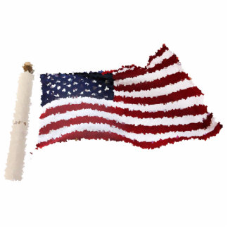 Paper Mache American Flag Acrylic Cut Out