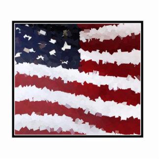 Paper Mache American Flag Photo Sculptures
