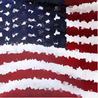 Paper Mache American Flag Photo Cut Outs