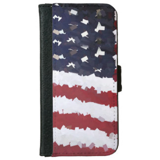 Paper Mache American Flag iPhone 6 Wallet Case