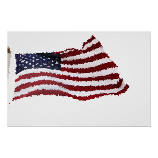 Paper Mache American Flag Print