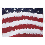 Paper Mache American Flag Stationery Note Card