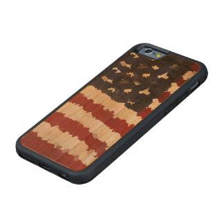 Paper Mache American Flag Carved® Cherry iPhone 6 Bumper
