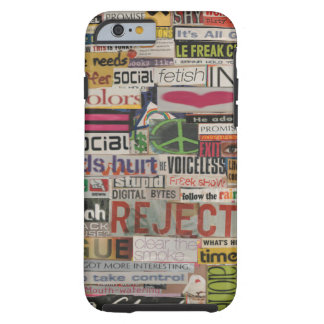 paper mache word collage from paper magazine tough iPhone 6 case