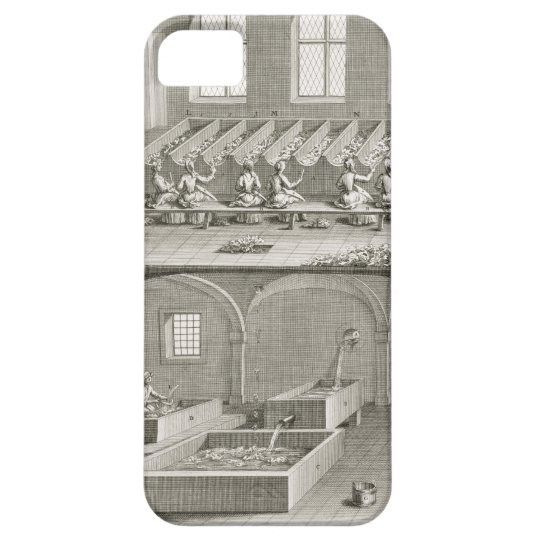 Paper making, from the 'Encyclopedie des Sciences iPhone SE/5/5s Case