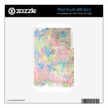 Paper marbling iPod touch 4G decal