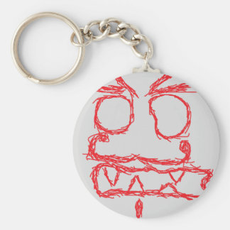 Paper Massacre - Red Keychain