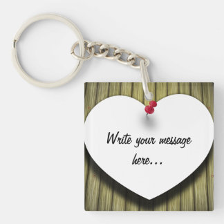 Paper Message Note Heart - Keychain