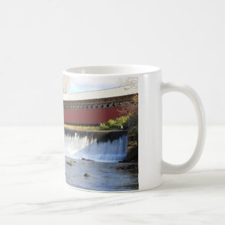 Paper Mill Covered Bridge and Falls Bennington ... Classic White Coffee Mug