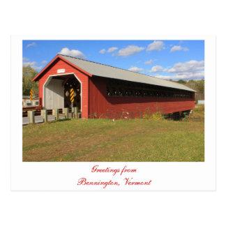 Paper Mill Covered Bridge Bennington VT Post Cards