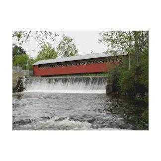Paper Mill Covered Bridge, Vermont Canvas Print