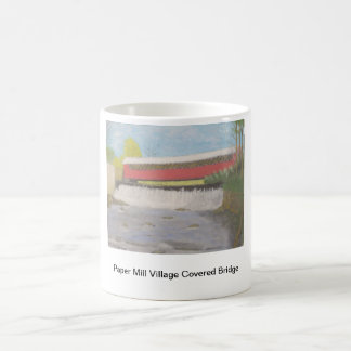 Paper Mill Village Covered Bridge Classic White Coffee Mug