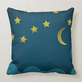 Paper Moon and Stars Pillow