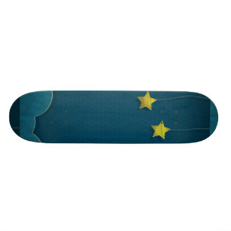 Paper Moon and Stars Skateboard Deck