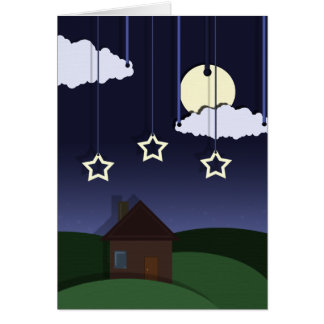 Paper Moon Party Invitation Greeting Card
