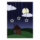 Paper Moon Party Invitation Greeting Cards